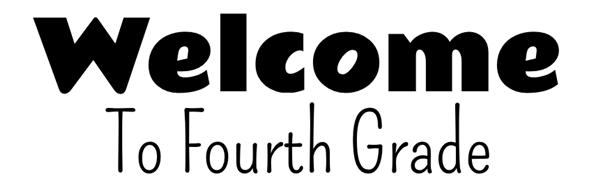 Image result for Fourth Grade font image